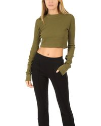 Cotton Citizen - Monaco Crop Ls Moss - Lyst