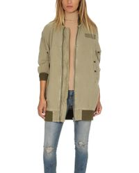 R13 | Hemp Long Flight Jacket | Lyst