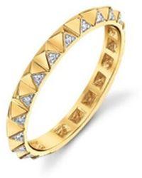 Sydney Evan - Pave Diamond Pyramid Eternity Ring - Lyst