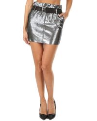 RTA - Marlin Belted Skirt - Lyst