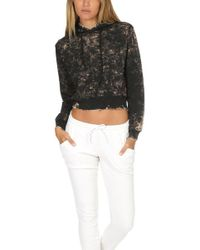 Cotton Citizen - Milan Cropped Pullover Hoody - Lyst