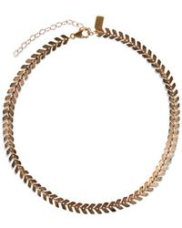 Electric Picks - Straight Edge Choker - Rose Gold - Lyst