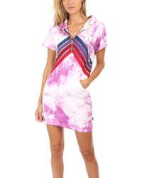 Aviator Nation - X Blue&cream Nova Dress - Lyst