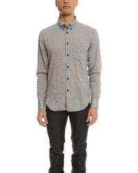 Naked & Famous - Crinkle Horizontal Stripes Slim Shirt - Lyst