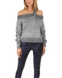 RTA Beckett Sweater Silver - Gray