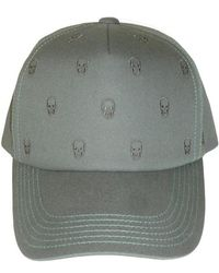 Lucien Pellat Finet - Tiny Skull Embroidered Cap Grey - Lyst