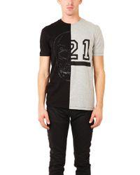 Markus Lupfer - Skull 21 Half T Shirt - Lyst