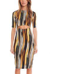 SUNO - Ikat Cutout Dress - Lyst