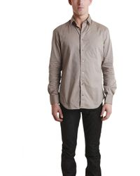 Blue & Cream - Putty Pinpoint Shirt - Lyst