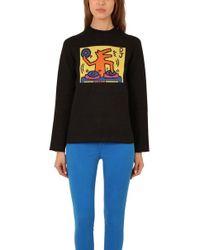 Lucien Pellat Finet - Keith Haring Jacquard Dog Jumper - Lyst