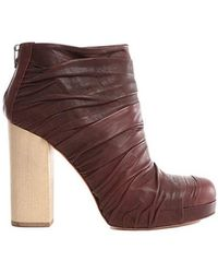 LD Tuttle - Ruched Leather Ankle Boots - Lyst
