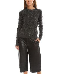 3.1 Phillip Lim - Pullover In Destroyed Diamond Fringe Jacquard - Lyst