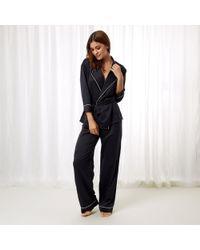 Bluebella - Wren Kimono And Trouser Set Black - Lyst