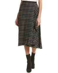 Vince - Draped Wool-blend Pencil Skirt - Lyst