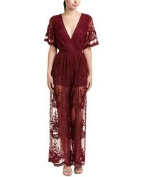 Honey Punch - Embroidered Jumpsuit - Lyst