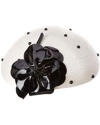 Kathy Jeanne - Fancy White Hat With Flower - Lyst