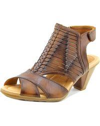 Earth - Libra Women Open-toe Leather Slingback Sandal - Lyst