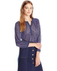Lucky Brand - Long Sleeve Contrast Henley - Lyst