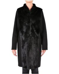 Rizal - Women's Black Wool Coat - Lyst