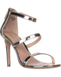 Charles David - Charles Charles David Ria Strappy Heeled Sandals - Gold Speccio - Lyst