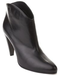 Céline - Céline Women's Leather Ankle Booties Shoes Black - Lyst