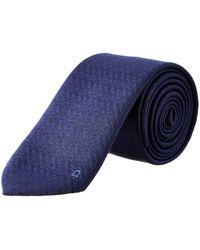 Ferragamo - Navy Gancini Silk Tie - Lyst