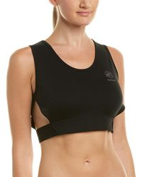 d326ec08bf Lyst - Betsey Johnson Performance Mesh Front Sports Bra in Black ...