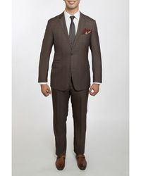 English Laundry - Men's Slim Fit Suit Light Brown Plaid - Lyst