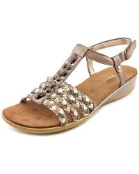 Easy Spirit - Womens Hattie Leather Open Toe Casual Ankle Strap Sandals - Lyst