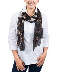 Emanuel Ungaro - Un7018 S7789 Tie Dye Print Brown Silk Scarf - Lyst
