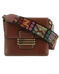 Etro - Women's Brown Leather Shoulder Bag - Lyst