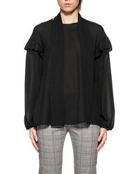 Pinko - Women's Black Polyester Blouse - Lyst