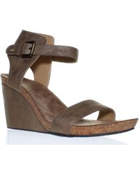 Adrienne Vittadini - Womens Ted Taupe Ankle Strap Heels - Lyst