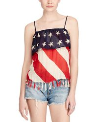Denim & Supply Ralph Lauren - Stars & Stripes Printed Sleeveless Blouse - Lyst