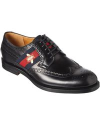 Gucci - Brogue Lace-up Leather Loafer - Lyst