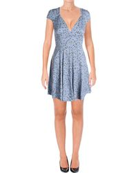 Denim & Supply Ralph Lauren - Womens Floral Print Cut-out Casual Dress - Lyst