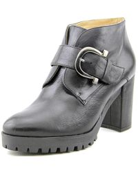 Eric Michael - Lucy Round Toe Leather Bootie - Lyst