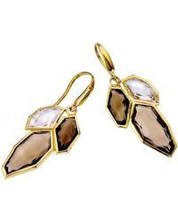 Jewelista | 18k Vermeil White & Smoky Quartz Earrings | Lyst