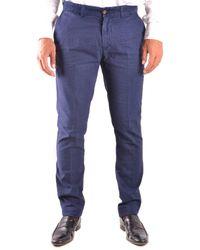 Harmont & Blaine - Men's Blue Cotton Pants - Lyst