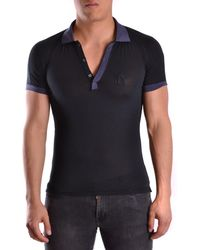 John Galliano - Men's Mcbi130109o Blue Cotton Polo Shirt - Lyst