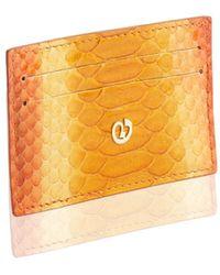 Nada Sawaya - Python Cardholder - Orange Combo - Lyst