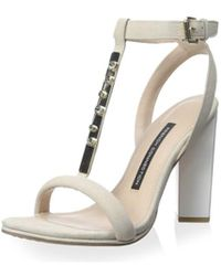 French Connection - Womens Melvyn Open Toe Ankle Strap Classic Court Shoes - Lyst