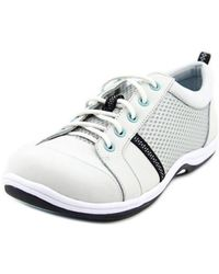 Easy Street - Buffy Women Ww Round Toe Leather Gray Sneakers - Lyst