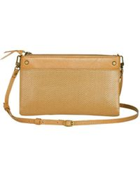 Mofe - Sonder Convertible Crossbody-bifold Wallet-clutch With Adjustable Strap In Perforated Leather - Lyst