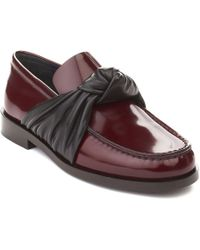 Céline - Céline Women's Leather Loafer Shoes Maroon - Lyst