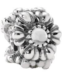 PANDORA - Birthday Blooms Silver Rock Crystal Charm - Lyst