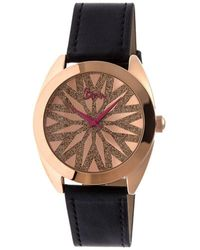 Boum - Etoile Glitter-dial Leather-band Ladies Watch - Lyst