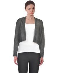 Calvin Klein - Elbow Patch Long Sleeve Shrug Sweater - Lyst