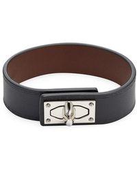 Givenchy - Shark Lock Leather Bracelet - Lyst