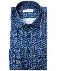 Etro - Men's Blue Cotton Shirt - Lyst